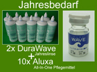 "2x Jahres-Kontaktlinse ""DuraWave"" + 10x Aluxa All-in-One"